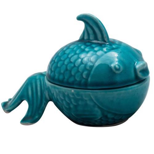قندان  سرامیکی آرت گالری طرح ماهی  مدلA3066