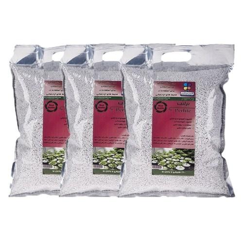 پرلیت دانه درشت 500 گرمی گلباران سبز بسته سه عددی