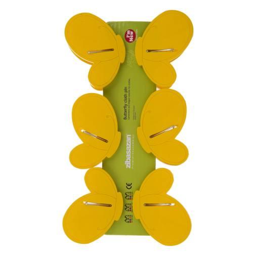 گیره لباس عروسکی زیباسازان مدل پروانه بسته 6 عددی