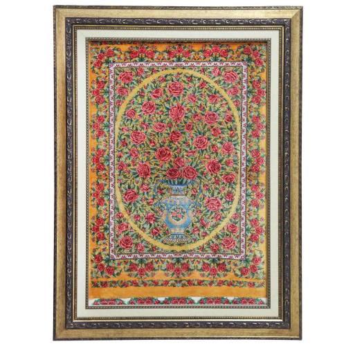 تابلو فرش دستبافت ابریشمی کد 116180