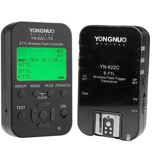 کنترل کننده فلاش وایرلس یونگنو مدل YN622C-KIT E-TTL مناسب برای دوربین های کانن