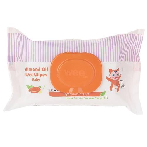 دستمال مرطوب وی مخصوص کودک مدل Almond Oil بسته 72 عددی