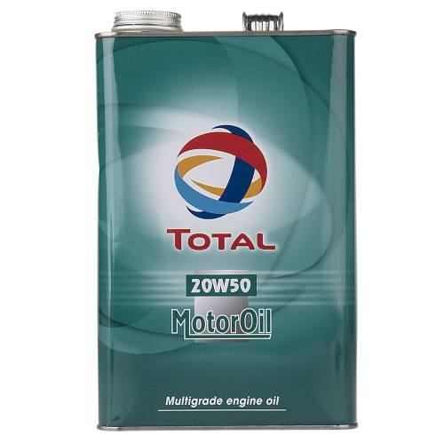 روغن موتور خودرو توتال مدل Quartz 20W50 حجم 4 لیتر