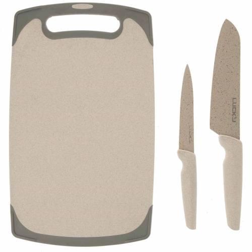ست چاقوی 3 پارچه لاکی مدل LK-NK210