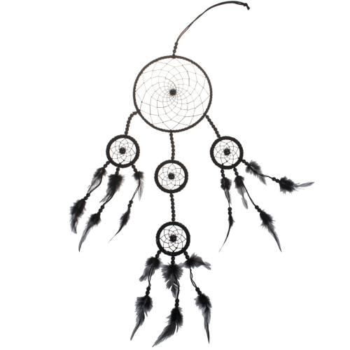 کابوس گیر دیواری گالری چروکی مدل چند حلقه طرح مهر مشکی