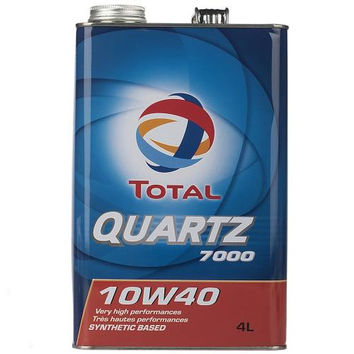 روغن موتور خودرو توتال مدل Quartz 7000 حجم 4 لیتر