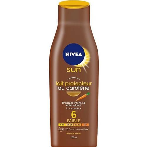 لوسیون آفتاب نیوآ مدل Sun Protector Milk Carotene Spf6 حجم 200 میلی لیتر