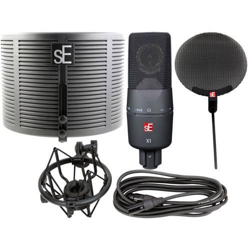 مجموعه کامل میکروفون کاندنسر استودیویی اس ای الکترونیکس مدل X1S Studio Bundle