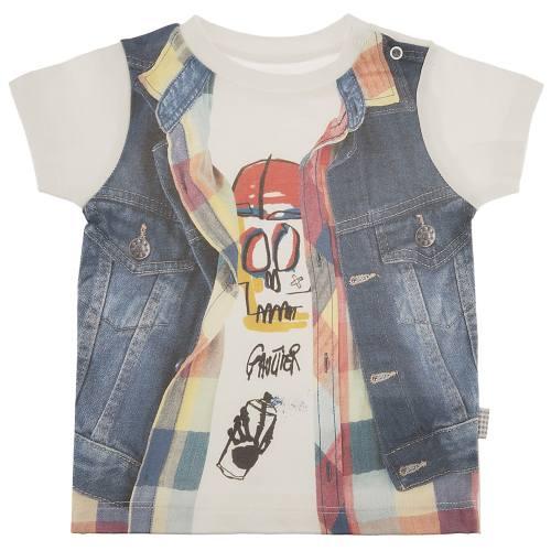 تی شرت آستین کوتاه نوزادی کیتی کیت مدل 10343