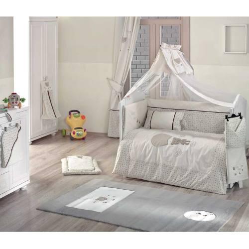 سرویس 9 تکه لحاف کودک کیدبو مدل Cute Bear Beige