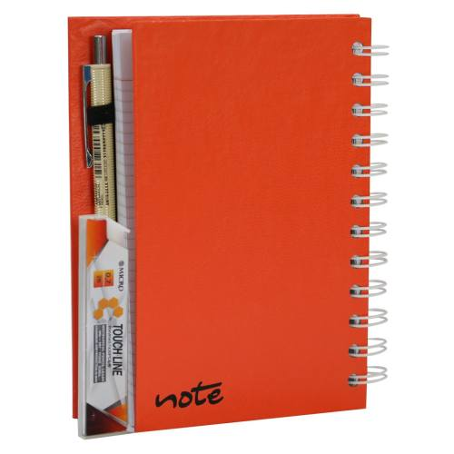 دفتر یادداشت اتوددار نارنجی ارشک کد Ar00103N