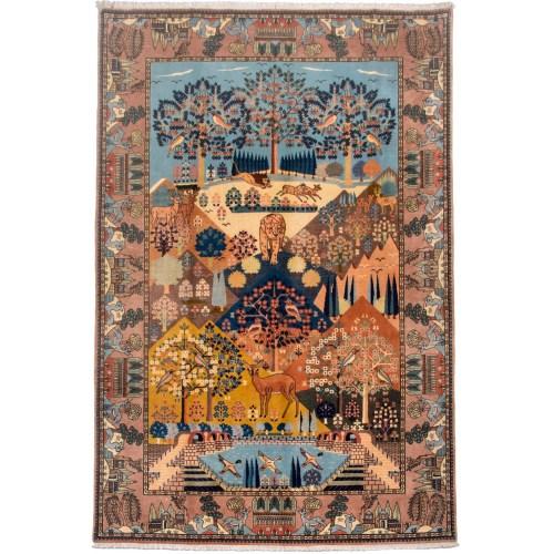 فرش دستبافت قدیمی شش متری گالری سی پرشیا کد 160031