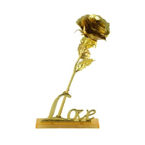 گل رز پایه دار مدل GOLDEN LOVE