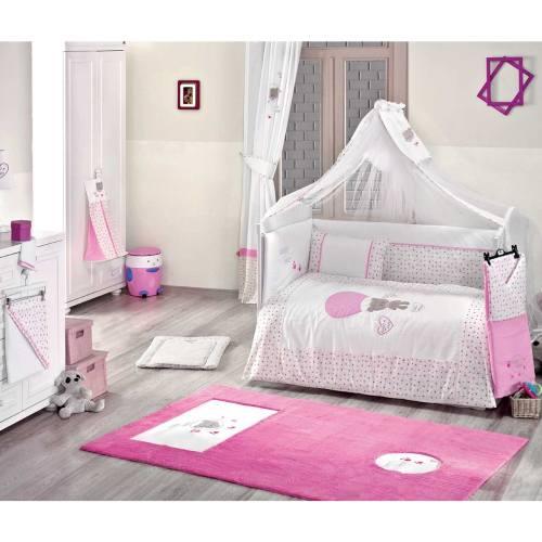 سرویس 9 تکه لحاف کودک کیدبو مدل Cute Bear Pink