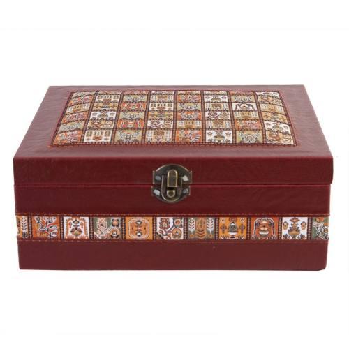 جعبه چرمی طهرانی طرح 2 کد 191007