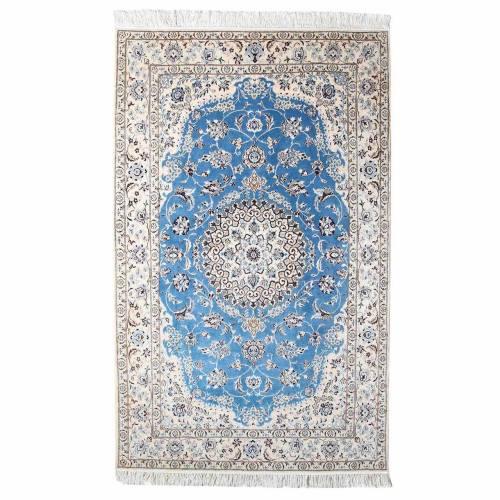 فرش دستبافت گل ابریشم گالری سلام مدل 182001 طرح لچک و ترنج