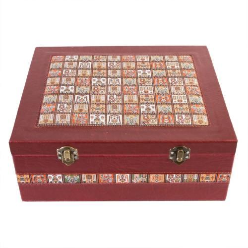 جعبه چرمی طهرانی طرح 1 کد 191006