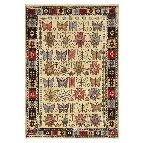 فرش دستبافت قدیمی دو و نیم متری کد 142980