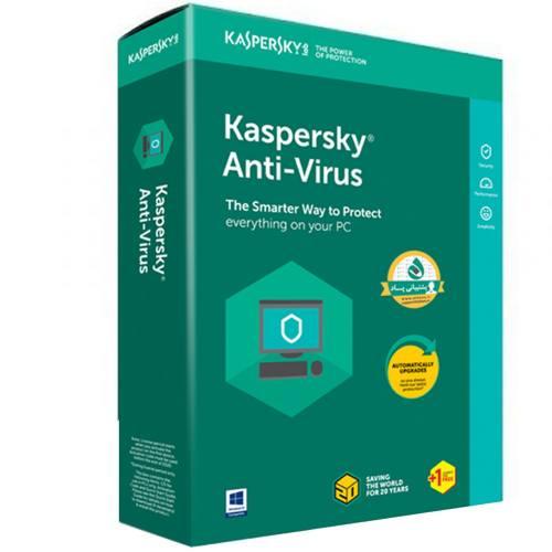 نرمافزار امنیتی کسپرسکی آنتی ویروس 1+1 کاربره 1 ساله