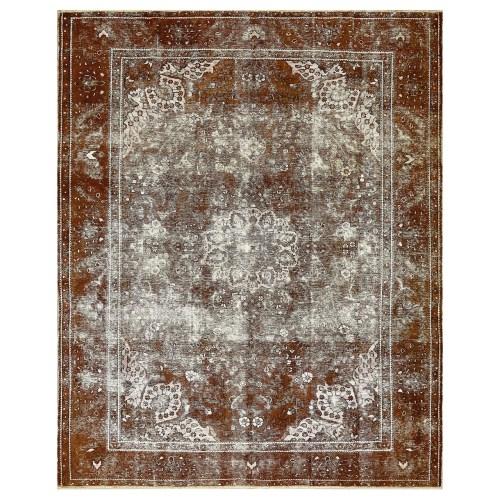 فرش دستبافت قدیمی نه متری کد 600556