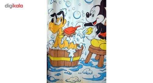 پرده حمام فرش مریم مدل Mickey - سایز 180 × 180 سانتی متر