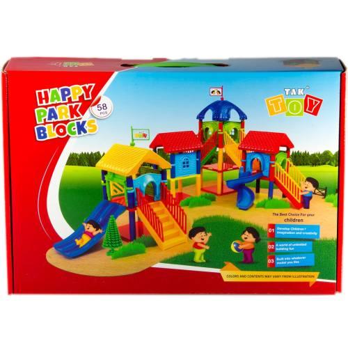 بازی آموزشی 58 تکه تک توی مدل Happy Park Blocks