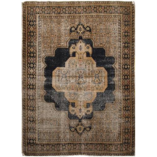 فرش دستبافت قدیمی دو و نیم متری فرش هریس کد 100067