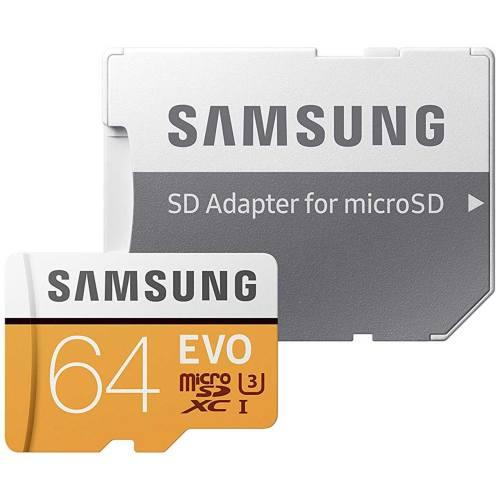 کارت حافظه microSDXC سامسونگ مدل Evo کلاس 10 استاندارد UHS-I U3 سرعت 100MBps همراه با آداپتور SD ظرفیت 64 گیگابایت