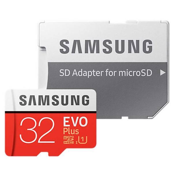 کارت حافظه microSDHC سامسونگ مدل Evo Plus کلاس 10 استاندارد UHS-I U1 سرعت 95MBps همراه با آداپتور SD ظرفیت 32 گیگابایت   Samsung Evo Plus UHS-I U1 Class 10 95MBps microSDHC With Adapter - 32GB