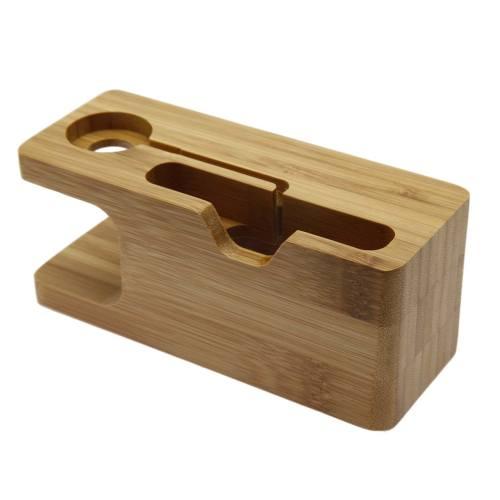 پایه نگهدارنده گوشی و اپل واچ مدل Wood