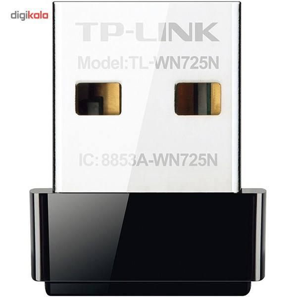 کارت شبکه USB بی سیم N150 Nano تی پی-لینک مدل TL-WN725N | TP-LINK TL-WN725N Wireless N150 Nano USB Network Adapter