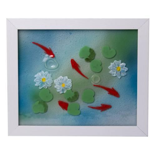 تابلو  آمینا دیزاین طرح حوض ماهی کد M100