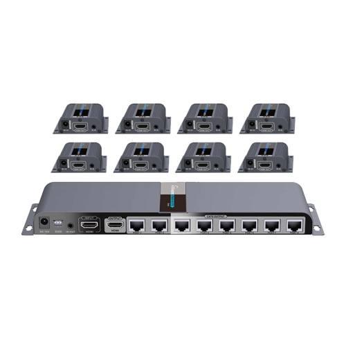 توسعه دهنده و تکرارکننده 1 به 8 HDMI لنکنگ مدل LKV718PRO