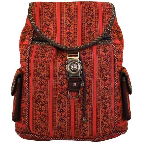کوله پشتی پارچه ای ترمه حسینی مدل 00-24 طرح محبت