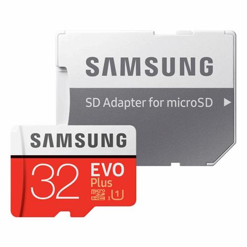 کارت حافظه microSDHC سامسونگ مدل Evo Plus کلاس 10 استاندارد UHS-I U1 سرعت 80MBps همراه با آداپتور SD ظرفیت 32 گیگابایت