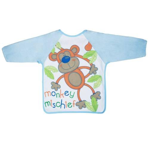 پیشبند نوزادی کنزا مدل Monkey Mischief