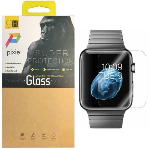محافظ صفحه نمایش تمام چسب شیشه ای پیکسی  مدل 2.5D   مناسب اپل واچ سایز 38 میلی متر
