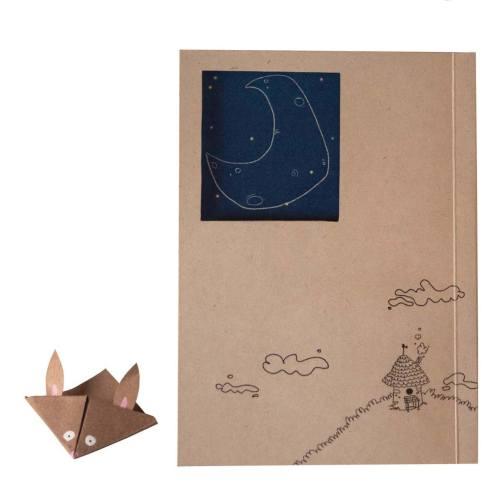 دفتر یادداشت بیگای استودیو مدل ماه به همراه بوک مارک هدیه