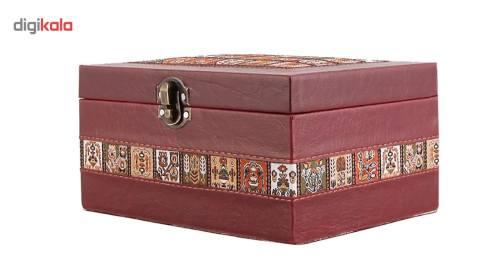 صندوقچه چرمی طهرانی سایز 2 کد 191008