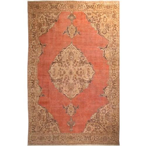فرش دستبافت قدیمی شش متری فرش هریس کد 100359