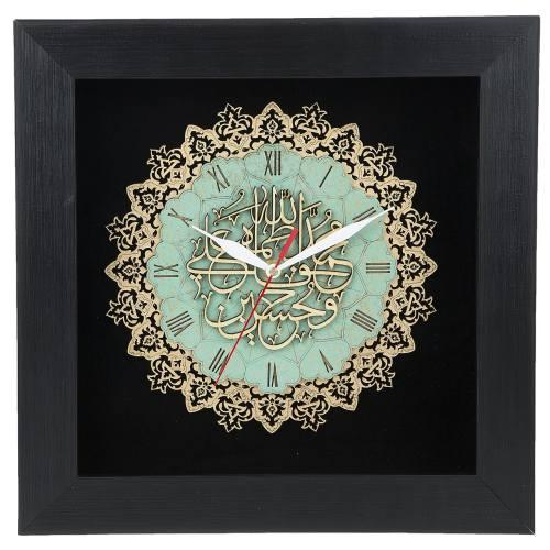 ساعت معرق دی ان دی طرح خوشنویسی پنج تن کد TJ 027