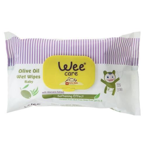 دستمال مرطوب کودک وی کر مدل Olive Oil بسته 72 عددی