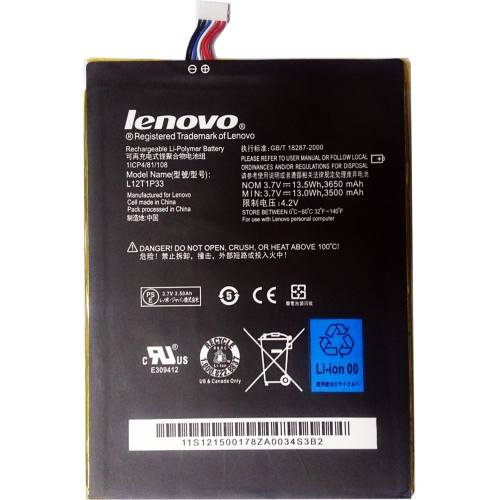 باتری تبلت لنوو مدل L12T1P33 با ظرفیت 3650mAh مناسب برای تبلت لنوو Idea Tab A3000