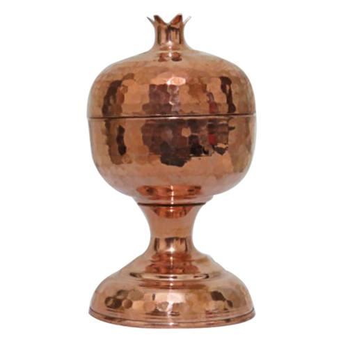 قندان پایه دار مسی زنجان مدل Pomegranate کد 21