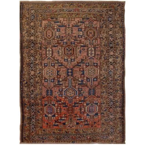 فرش دستبافت قدیمی یک و نیم متری فرش هریس کد 100178