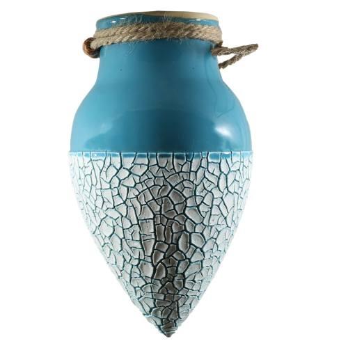 گلدان آویز سرامیکی گلباران سبز مدل ASKGH
