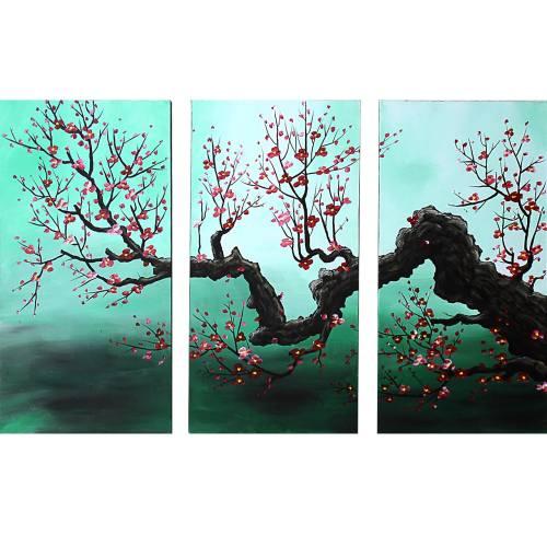 تابلو نقاشی گالری دست نگار طرح سه تکه کد 106-07