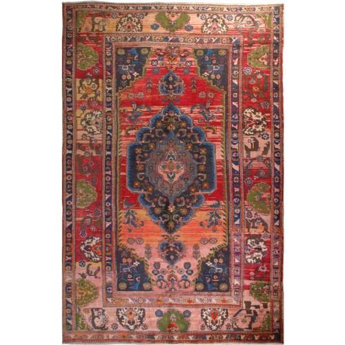 فرش دستبافت قدیمی نه متری هریس کد 100360