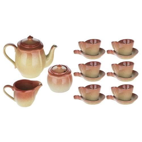 ست چای خوری 17 پارچه گالکسی گل مدل 017