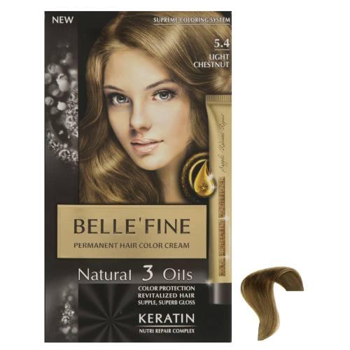 کیت رنگ مو بله فاین سری Natural 3 Oils شماره 5.4